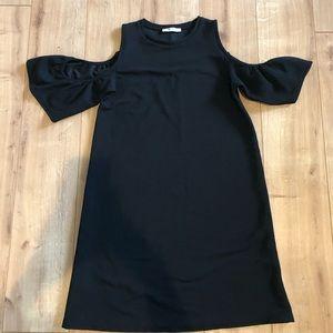 Zara Peek-A-Boo Black Dress